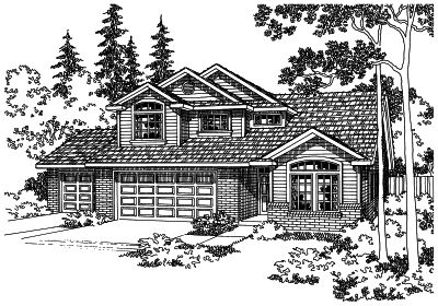 Traditional Style Home Design Plan: 17-411