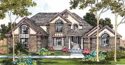 European Style House Plans Plan: 17-412
