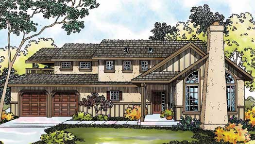 Southwest Style Floor Plans Plan: 17-414