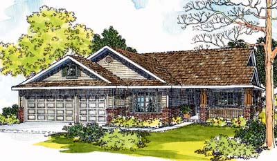 Traditional Style House Plans Plan: 17-415
