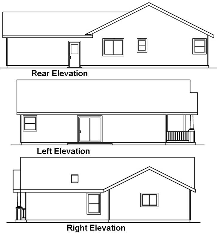 Rear Elevation Plan: 17-415