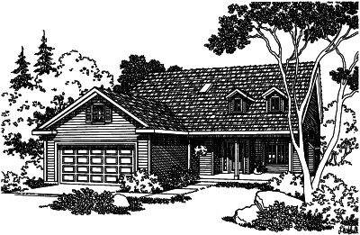Country Style Floor Plans Plan: 17-416