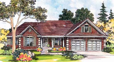 Traditional Style Floor Plans Plan: 17-417