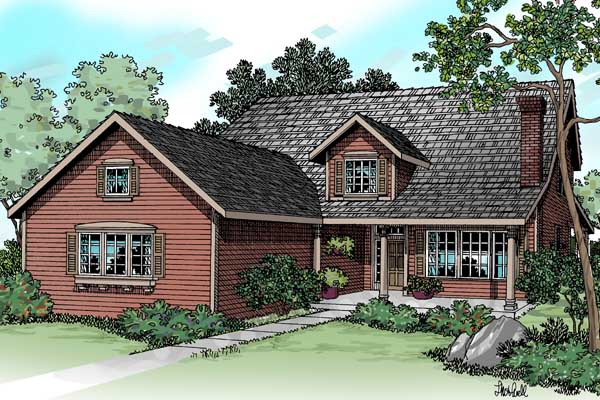 Traditional Style House Plans Plan: 17-419