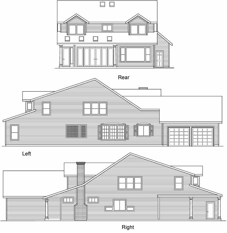 Rear Elevations Plan:17-419