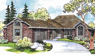 Traditional Style Home Design Plan: 17-420