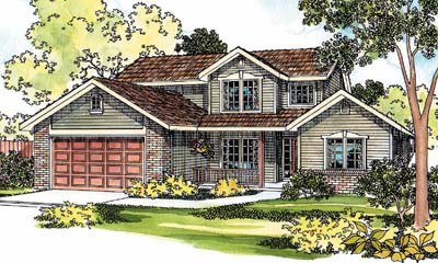 Country Style Floor Plans Plan: 17-421