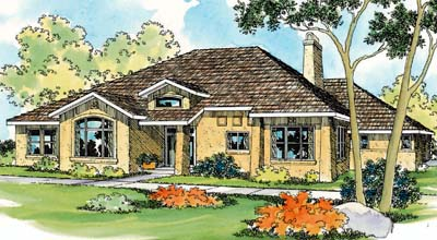 Southwest Style House Plans Plan: 17-426