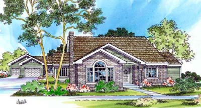 Traditional Style House Plans Plan: 17-427