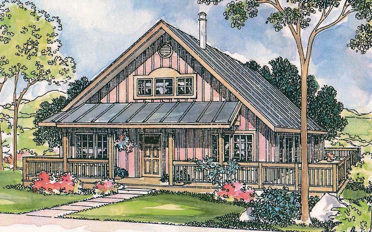 Country Style Floor Plans Plan: 17-428