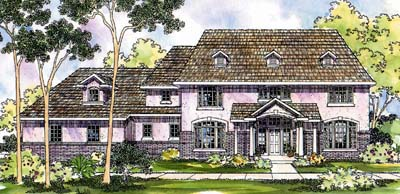 Early-american Style Home Design Plan: 17-430