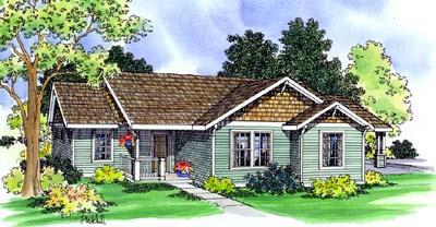 Craftsman Style Home Design Plan: 17-435