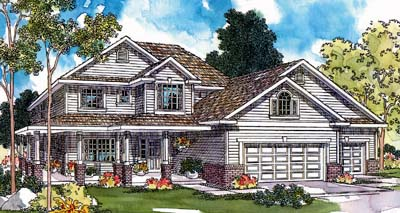 Traditional Style Home Design Plan: 17-437