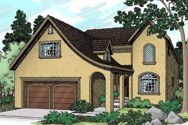 French-country Style House Plans Plan: 17-438