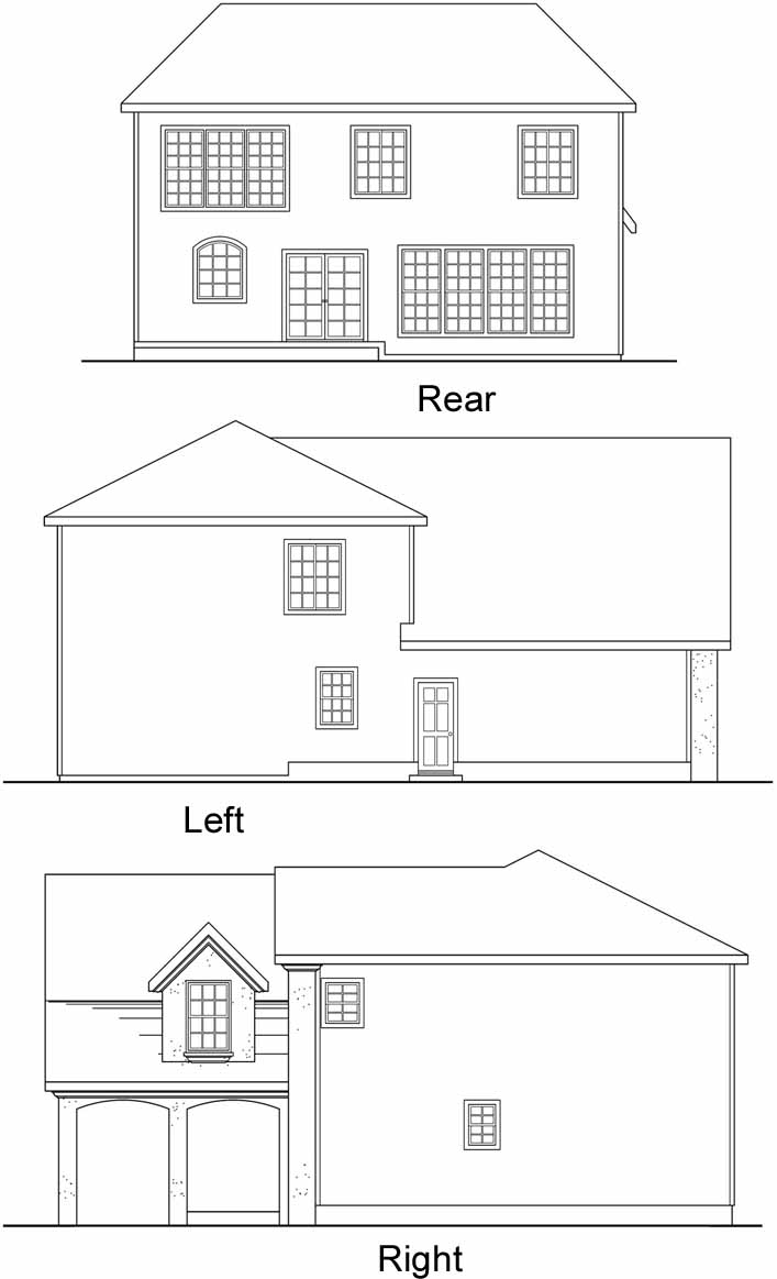 Rear Elevation Plan: 17-438