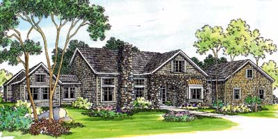 English-country Style House Plans Plan: 17-439