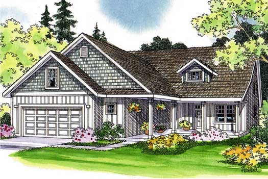 Craftsman Style Home Design 17-441