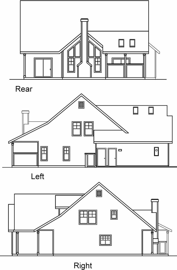 Rear Elevation Plan: 17-441