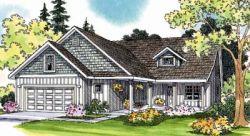 Craftsman Style Home Design Plan: 17-441