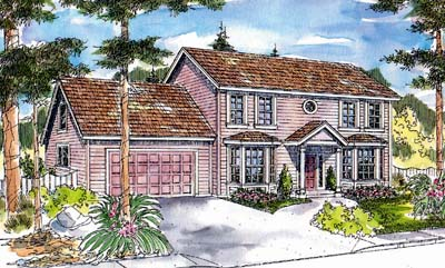 Early-american Style House Plans Plan: 17-444