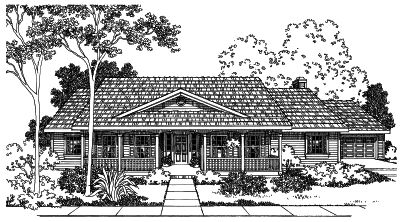 Country Style Home Design Plan: 17-448