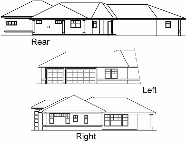 Rear Elevation Plan: 17-449