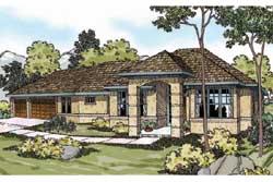 Mediterranean Style House Plans Plan: 17-449