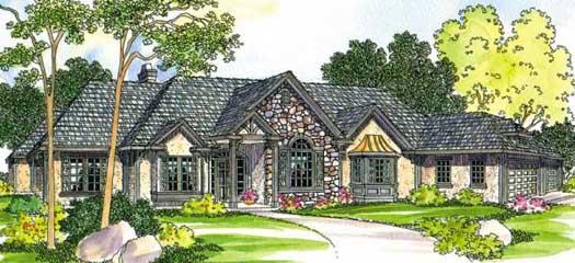 European Style House Plans Plan: 17-451