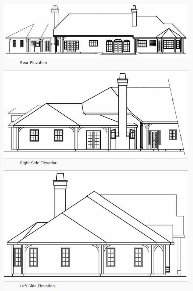 Rear Elevation Plan: 17-451