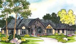 European Style Home Design Plan: 17-451