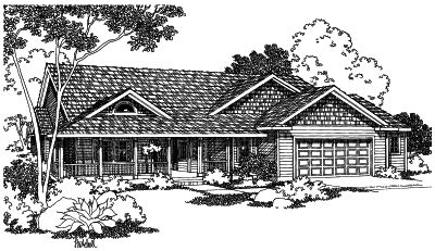 Ranch Style Floor Plans Plan: 17-453