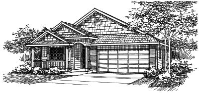 Country Style House Plans Plan: 17-455