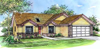 Traditional Style Home Design Plan: 17-456