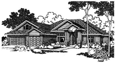 Contemporary Style Floor Plans 17-458