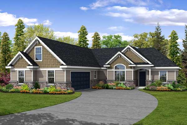 Craftsman Style Home Design Plan: 17-459