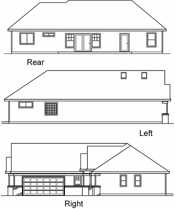 Rear Elevation Plan: 17-459