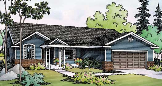 Ranch Style Home Design Plan: 17-460