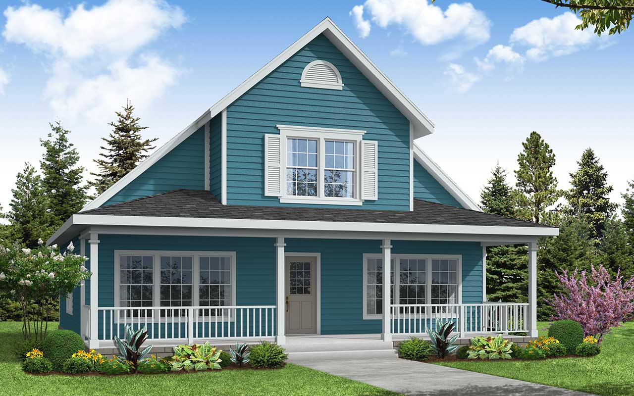 Country Style Home Design Plan: 17-461