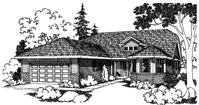 Northwest Style Floor Plans Plan: 17-462