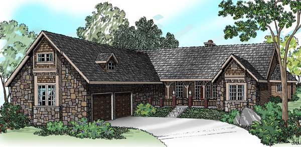 English-country Style Floor Plans Plan: 17-464