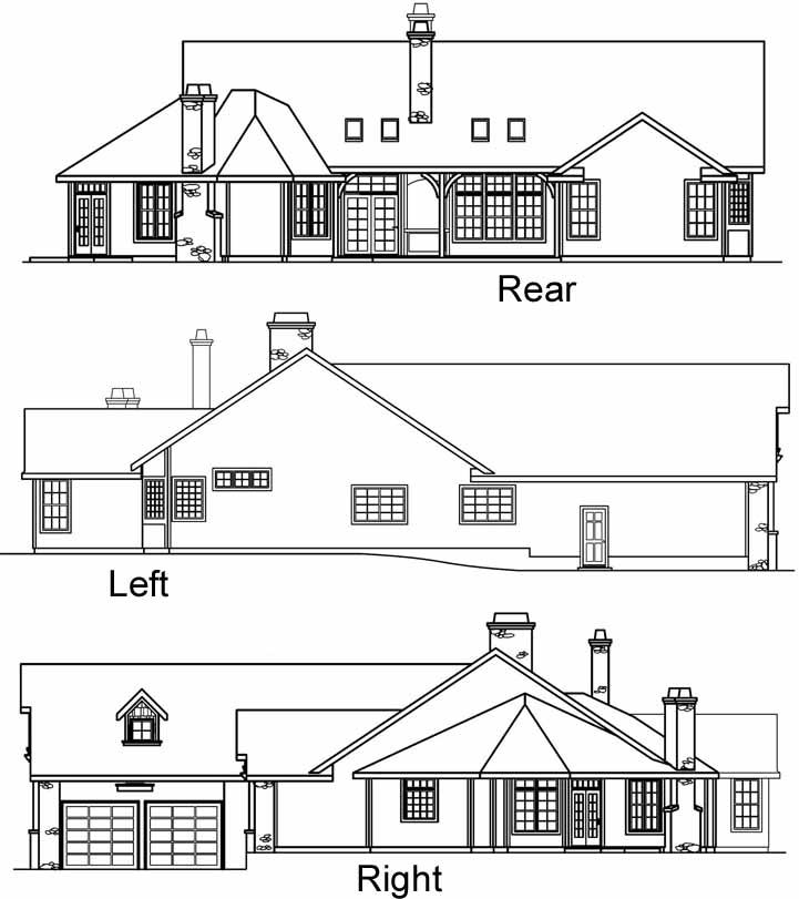 Rear Elevation Plan: 17-464