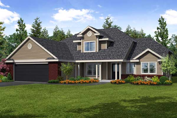 Traditional Style Home Design Plan: 17-465