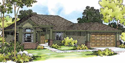 Traditional Style Home Design Plan: 17-466
