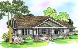 Craftsman Style Home Design Plan: 17-468