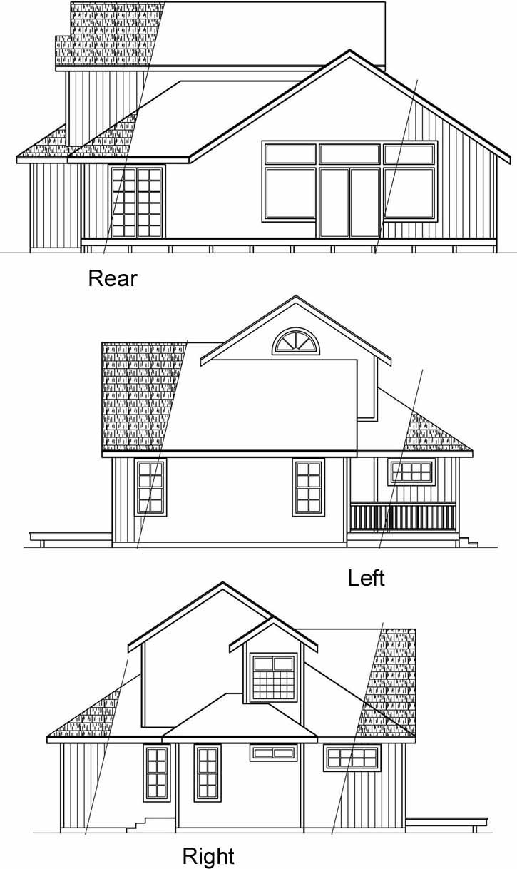 Rear Elevation Plan: 17-469