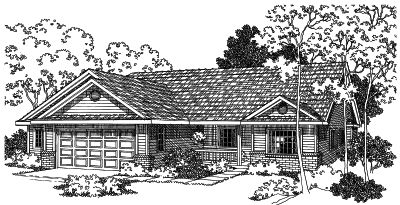 Ranch Style Home Design Plan: 17-470