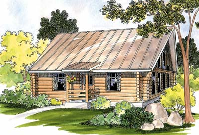 Log-cabin Style House Plans Plan: 17-471