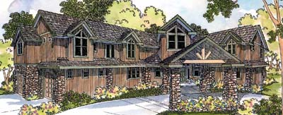 Traditional Style Home Design Plan: 17-476