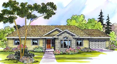 Ranch Style House Plans Plan: 17-477