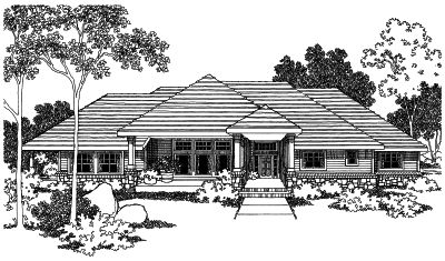 Contemporary Style Floor Plans Plan: 17-478